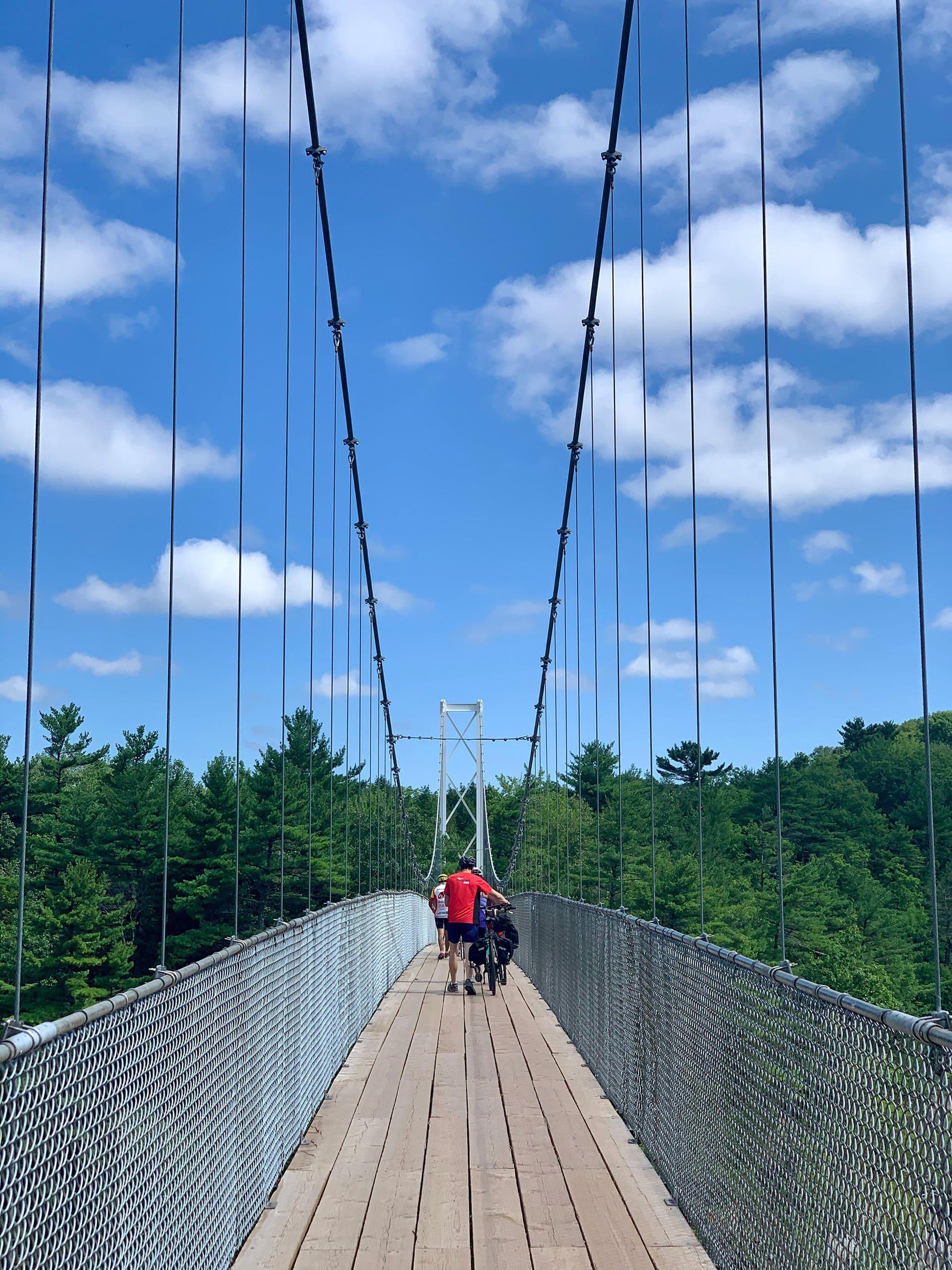 Pont suspendu Chutes de la Chaudière - Québec