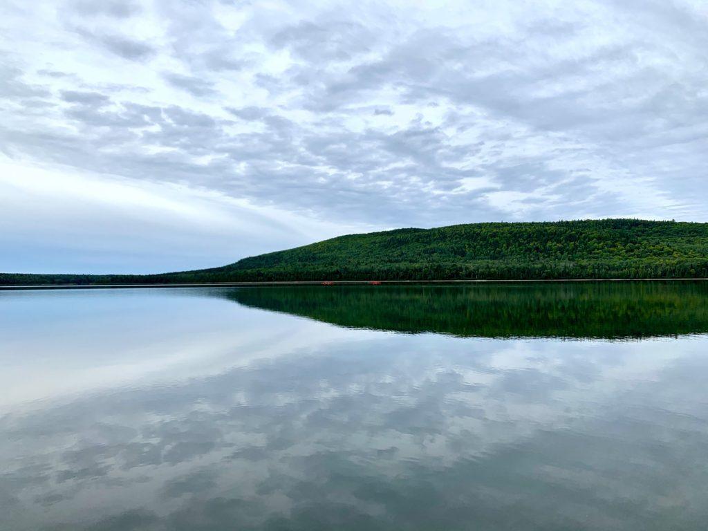 Vue canot Lac Témiscouata Québec