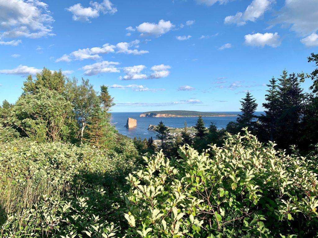 Vue hauteur rocher percé canada