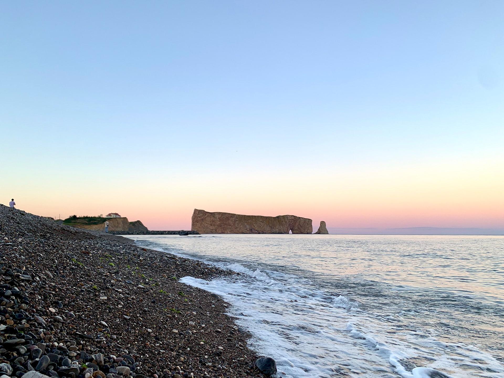 coucher de soleil rocher percé