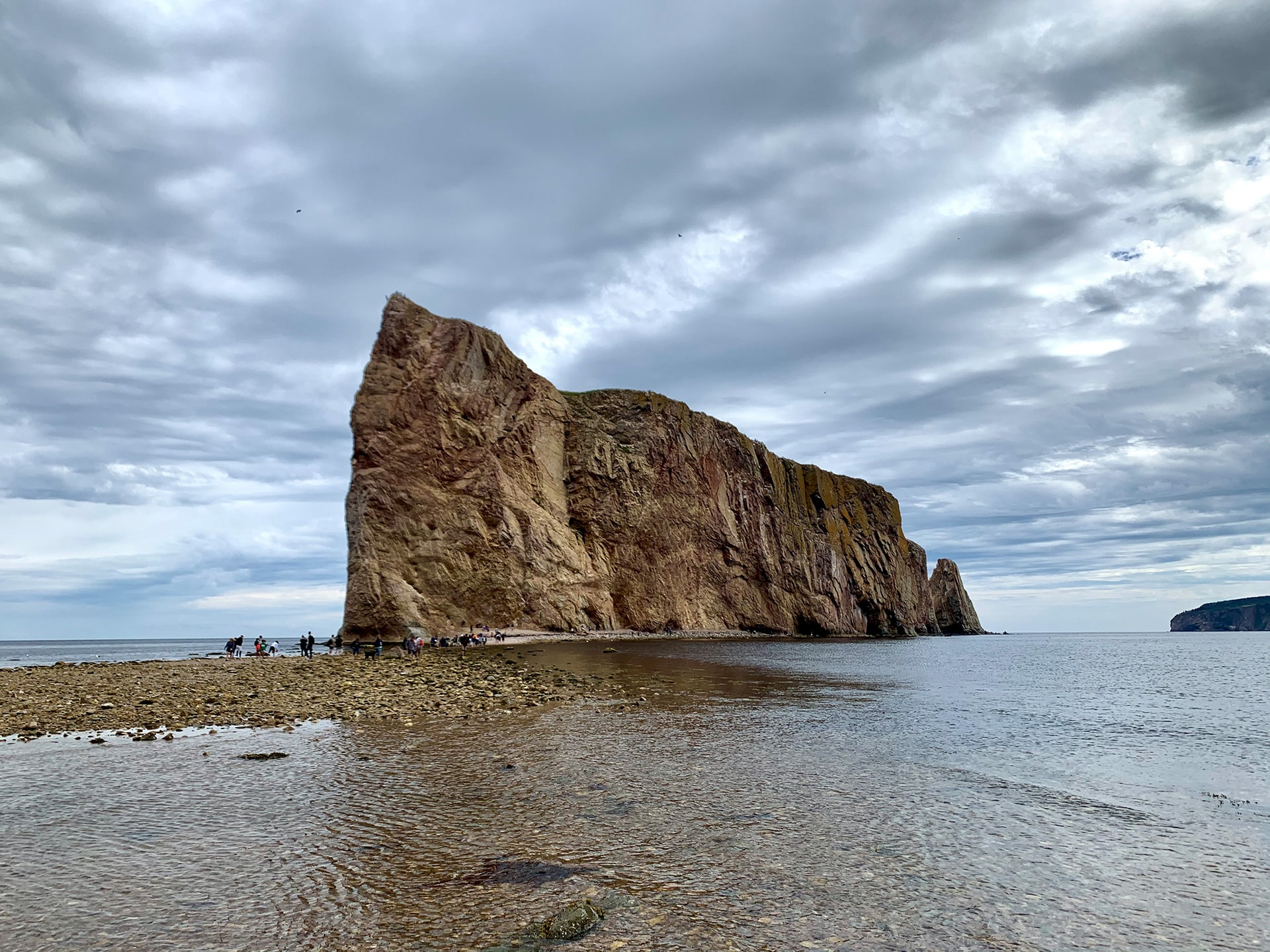 maree basse rocher percé